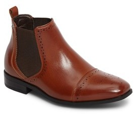 Stacy Adams Boy's Alomar Cap Toe Chelsea Boot
