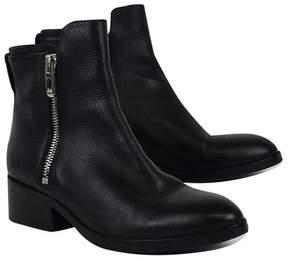 3.1 Phillip Lim Black Leather w/ Silver Zipper Booties