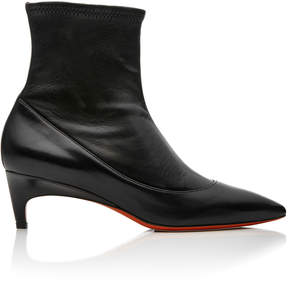 Santoni Stretch-Leather Ankle Boots