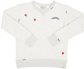 Scotch R'Belle Embroidered Distressed French Terry Sweatshirt