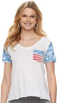 Rock & Republic Women's Flag Pocket Tee