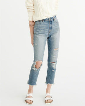 Abercrombie & Fitch High-Rise Girlfriend Jeans