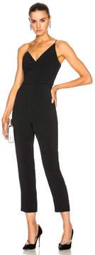 Cushnie et Ochs One Shoulder Cropped Sleeveless Jumpsuit