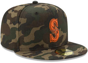 New Era Seattle Mariners Camo On Canvas 59FIFTY Cap