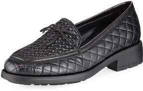 Sesto Meucci Merrie Quilted Heeled Loafer, Black