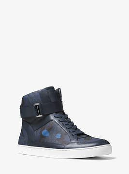Michael Kors Anthony Painterly Camo High-Top Sneaker