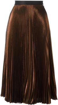 Christopher Kane pleated lamé skirt