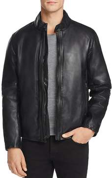Andrew Marc Emerson Moto Leather Jacket