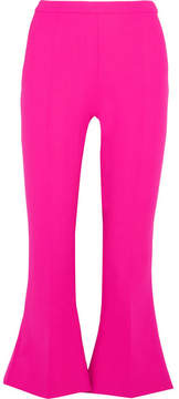 Antonio Berardi Cropped Stretch-wool Flared Pants - Pink