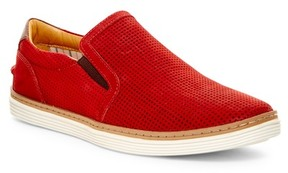 Donald J Pliner Travis Perforated Nubuck Leather Slip-On Sneaker