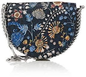Paco Rabanne Women's 14#02 Half Moon Suede Mini Crossbody Bag