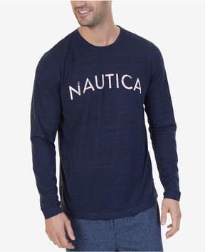 Nautica Men's Space-Dyed Logo Pajama T-Shirt