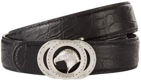 Stefano Ricci Eagle Buckle Croc Belt