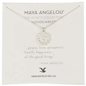 Dogeared Sterling Silver Peace, Love, Prosperity Charm Necklace