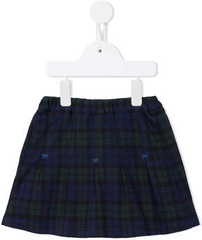 Familiar checked bow detail skirt