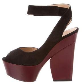 Celine Ankle Twist Platform Sandals w/ Tags