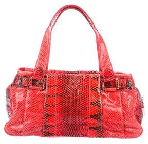 Lambertson Truex Snakeskin Shoulder Bag