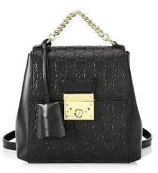 Gucci Padlock Canvas Backpack - BLACK - STYLE