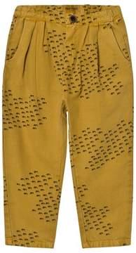 Bobo Choses Yellow Flocks Print Baggy Trousers