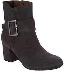 Earth Earthies Suede Block Heel Boots - Athena