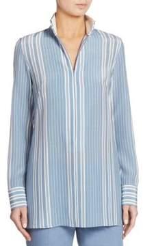 Akris Striped Silk Crepe Tunic
