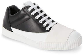 Marni Black Leather Cross Strap Sneakers