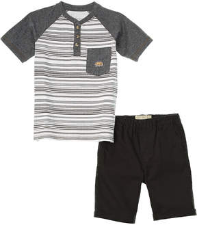 Lucky Brand Boys' 2Pc Henley And Short Set