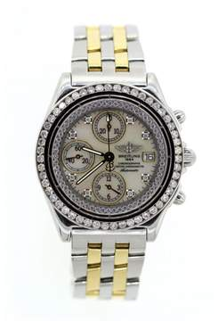Breitling Chronomat D13350 Two Tone Diamond Mens Watch