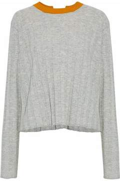 Derek Lam 10 Crosby Open-Back Ribbed Wool And Cashmere-Blend Sweater