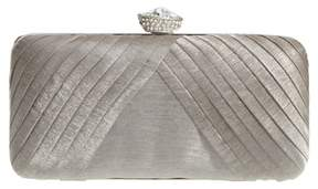 Nina Hypatia Pleated Satin Minaudiere