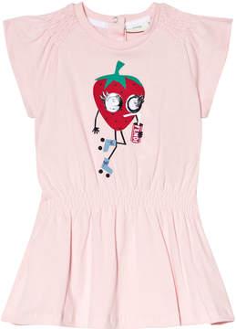 Fendi Pink Strawberry Monster Print Jersey Dress