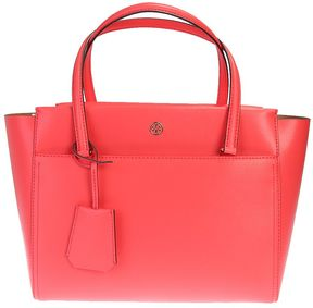 Tory Burch Leather Tote Parker S Bag - PINK - STYLE