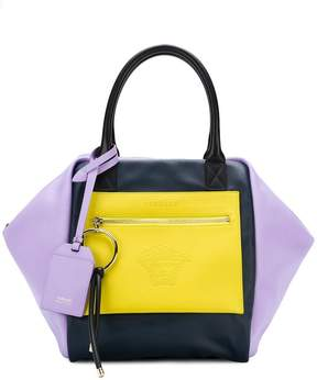 Versace oversized colour-block tote