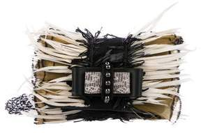 Christian Louboutin Sweet Charity Feather-Trimmed Crossbody Bag