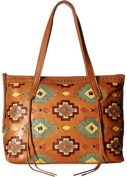 American West Adobe Allure Zip Top Tote Tote Handbags