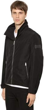 Burberry Hooded Techno Jacket W/ Logo Detail