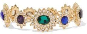 Kenneth Jay Lane Gold-Tone Crystal Bracelet