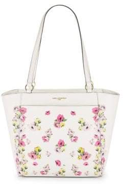Karl Lagerfeld Floral Willow Leather Tote