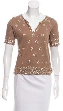 Calypso Embellished Linen T-Shirt
