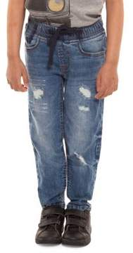 Dex Boy's Distressed Drawstring Jeans