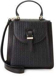 Floriana Mini Leather Crossbody Bag