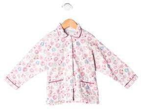 Rachel Riley Girls' Floral Pajama Top