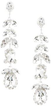 Cezanne Floral Linear Drop Earrings