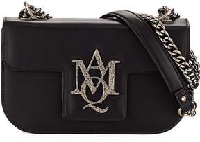 Alexander McQueen Insignia Small Chain Satchel Bag, Black