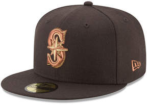 New Era Seattle Mariners Brown on Metallic 59FIFTY Fitted Cap