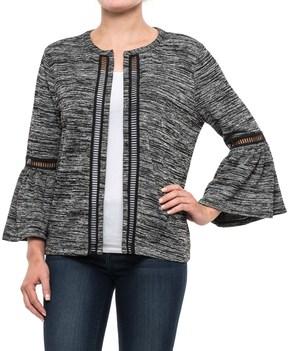 August Silk Bell-Sleeve Knit Jacket (For Women)