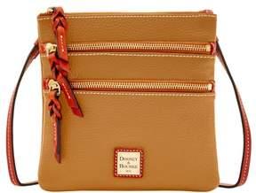 Dooney & Bourke Pebble Triple Zip Crossbody Shoulder Bag - CAMEL - STYLE