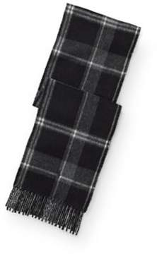 Ralph Lauren Reversible Plaid Wool Scarf Black One Size
