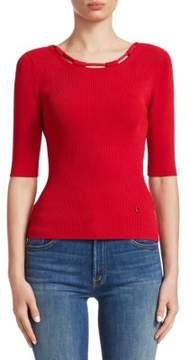 Carven Knit Elbow-Length Tee