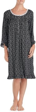 Eileen West Dotted Floral Jersey Waltz Nightgown
